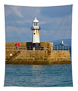St Ives And Godrevy Lighthouses Cornwall Tapestry