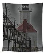 St. Joseph North Pier Lighthouse Lake Michigan Tapestry
