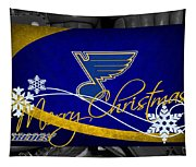 St Louis Blues Christmas Tapestry