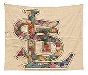 St Louis Cardinals Logo Vintage Tapestry