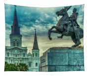 St. Louis Cathedral And Andrew Jackson- Artistic Tapestry