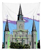 St Louis Cathedral Poster 2 Tapestry