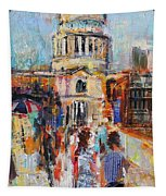 St Paul's From The Millennium Bridge Tapestry