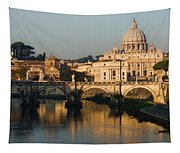 St Peter Morning Glow - Impressions Of Rome Tapestry