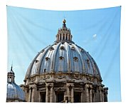St Peters Basilica Dome Vatican City Italy Tapestry