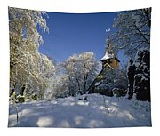St Peter's Church In The Snow Tapestry
