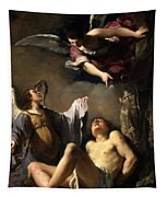 St. Sebastian Succoured By Two Angels Tapestry
