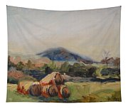 Stacked Hay Bales Tapestry