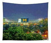 Stadium At Night Tapestry