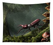 Stag Beetle Tapestry