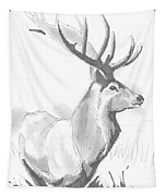 Stag Drawing Tapestry