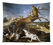 Stag Hunt Tapestry