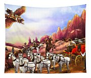 Stagecoach Robbery Tapestry