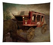 Stagecoach West Sepia Textured Tapestry