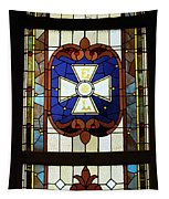 Stained Glass 3 Panel Vertical Composite 01 Tapestry