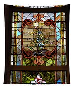 Stained Glass 3 Panel Vertical Composite 02 Tapestry