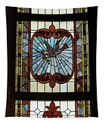 Stained Glass 3 Panel Vertical Composite 03 Tapestry