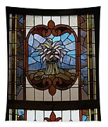 Stained Glass 3 Panel Vertical Composite 04 Tapestry