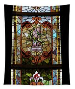 Stained Glass 3 Panel Vertical Composite 06 Tapestry