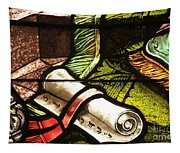 Stained Glass Scroll Tapestry