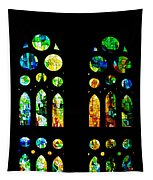 Stained Glass Windows - Sagrada Familia Barcelona Spain Tapestry