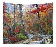 Staircase To Fall Tapestry