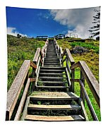 Stairs From The Beach Tapestry