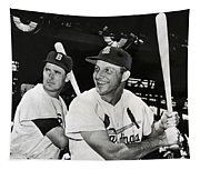 Stan Musial And Ted Williams Tapestry