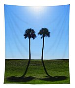 Stand By Me - Palm Tree Art By Sharon Cummings Tapestry