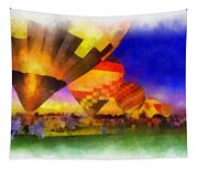 Standbye To Launch Hot Air Balloons Photo Art Tapestry