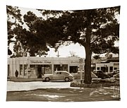 Stanifords Drug Store Ocean Ave.cor San Carlos Carmel Circa 1941 Tapestry