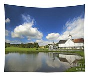Star Barn And Pond Tapestry