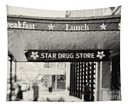 Star Drug Store Marquee Tapestry