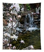 Star Magnolia And Flowing Water Tapestry