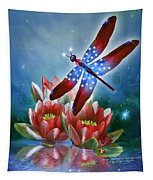 Star Spangled Dragonfly Tapestry