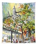 Starbucks Cafe In Budapest Tapestry