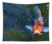Stare Down With A Koi Tapestry