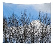 Starlings In The Cottonwoods Tapestry