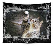Starry Night Kitty Style Splash Tapestry