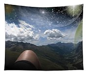 Stars And Planets In A Valley Tapestry