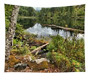 Starvation Lake Reflections Tapestry