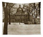 State Building Boston Massachusetts Circa 1900 Tapestry