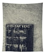 State Car Keys Tapestry