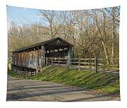 State Line Or Bebb Park Covered Bridge Tapestry