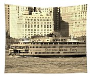 Staten Island Ferry In Sepia Tapestry