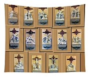 Stations Of The Cross Collage Tapestry