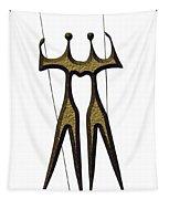 statuary - landmark of Brasilia city Tapestry