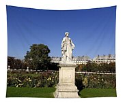 Statue At The Jardin Des Tuileries In Paris France Tapestry