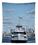 Statue Of Liberty Ferry Tapestry