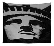 Statue Of Liberty In Black And White Tapestry
